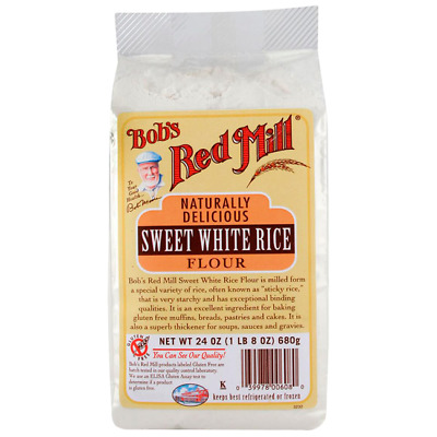 Bob's Red Mill Sweet White Rice Flour 24 oz (680 g) Pkg