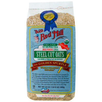 Bob's Red Mill Organic Steel Cut Oats 24 oz (1 lb 8 oz) (680 g) Pkg