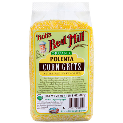 Bob's Red Mill Organic Corn Grits Polenta 24 oz Pkg