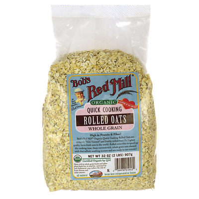 Bob's Red Mill Organic Quick Cooking Rolled Oats 32 oz (907 g) Pkg