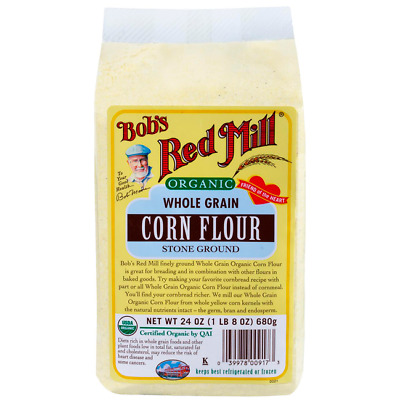 Bob's Red Mill Organic Whole Grain Corn Flour 24 oz (680 g) Pkg