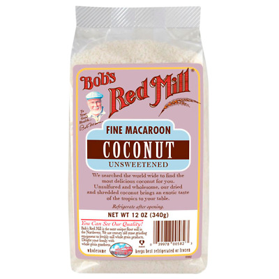 Bob's Red Mill Fine Macaroon Coconut Unsweetened 12 oz (340 g) Pkg