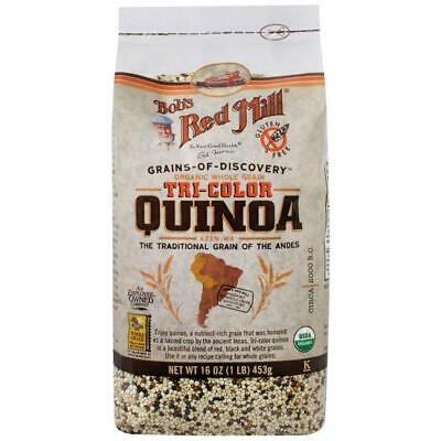 Bob's Red Mill Organic Whole Grain Tri-Color Quinoa 16 oz (453 g) Pkg