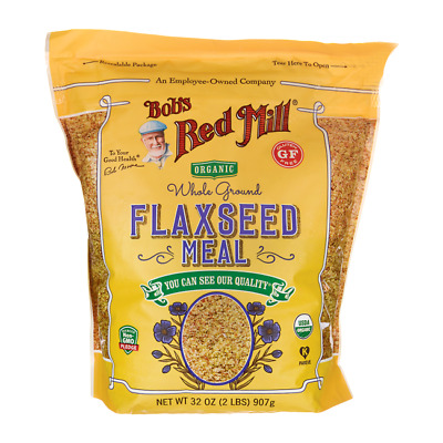 Bob's Red Mill Organic Whole Ground Flaxseed Meal 32 oz (2 lbs) (907 g) Pkg