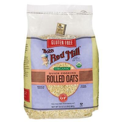 Bob's Red Mill Gluten Free Organic Quick Cooking Rolled Oats 32 oz (907 g) Pkg