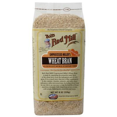Bob's Red Mill Unprocessed Miller's Wheat Bran 8 oz (226 g) Pkg