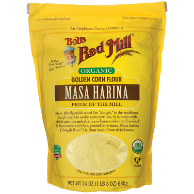 Bob's Red Mill Organic Masa Harina Golden Corn Flour 24 oz Pkg