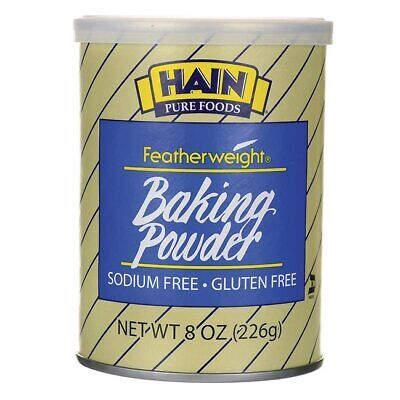 Hain Pure Foods Featherweight Baking Powder 8 oz Can