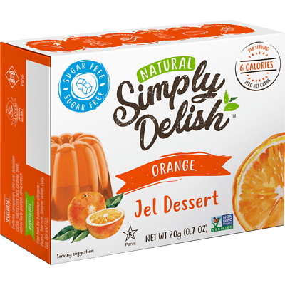 Simply Delish Orange Jel Dessert 0.7 oz (20 grams) Pkg