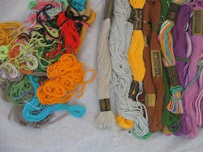 Variety of colors embroidery floss