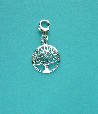 CLIP ON 925 Solid Sterling Silver /'LUCKY HORSESHOE/' Charm with Trigger Clasp
