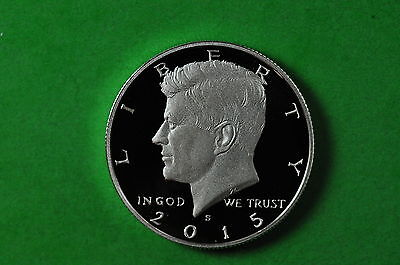2015-S  Deep Cameo SILVER Kennedy Half Dollar US GEM Proof (90% SILVER)