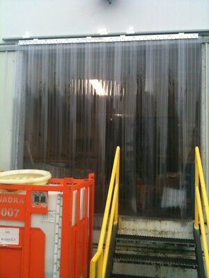 Vinyl Strip Door Curtain 36 in. X84 in. Anti Scratch Ribbed Hardware Included