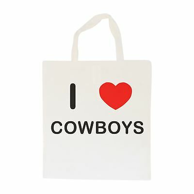 I Love Cowboys - Cotton Bag | Size choice Tote, Shopper or Sling