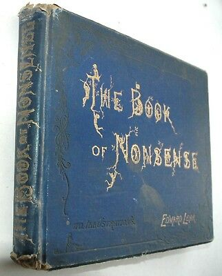 Edward Lear The Book of Nonsense  Early ed. 1895