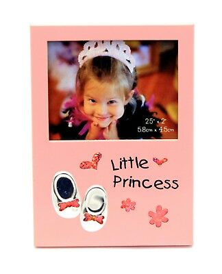 Princess Metal Pink Baby Girl Photo Picture Frame Gift Present
