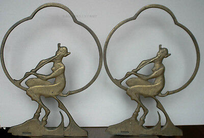 vintage or antique Art Deco period Devil or Pan magazine stand or news rack