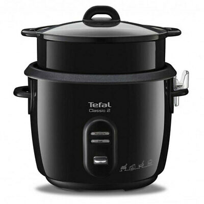 Tefal 650W/5L/10 Cup Classic Black Automatic Rice Cooker w/ Steamer Basket