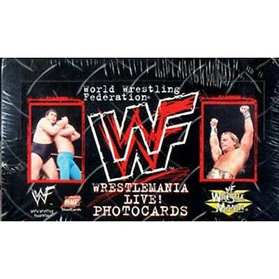 WWF Wrestlemania Live! - Wrestling Photocards Box & Album (Comic Images) #NEW
