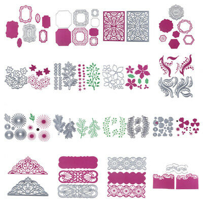 Silver Metal Cutting Dies Stencils Scrapbook Paper Cards Craft Embossing Die-Cut