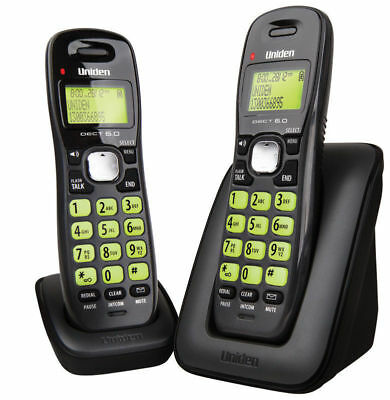 UNIDEN DECT 1615+1 CORDLESS PHONE POWER FAILURE BACKUP 2 handsets package