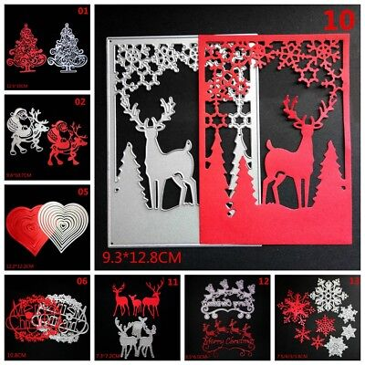 Christmas Tree Metal DIY Cutting Dies Stencil Scrapbooking Cards Craft snowflake