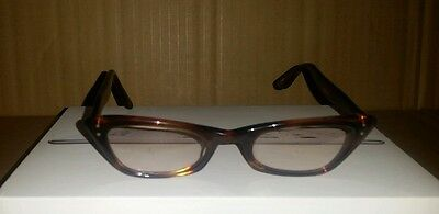 Vintage Bausch & Lomb Brown Tortoise Cats Eyes Reading Glasses