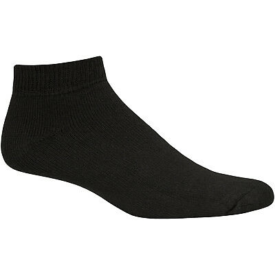Fruit of the Loom Mens Stays Black Low Cut Sock 6 Pairs