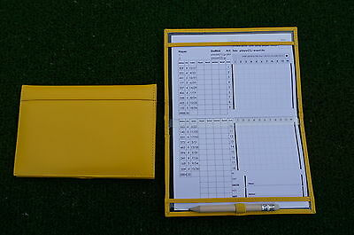Miclub A5 Std Yellow leather golf scorecard holder - Original and still the Best