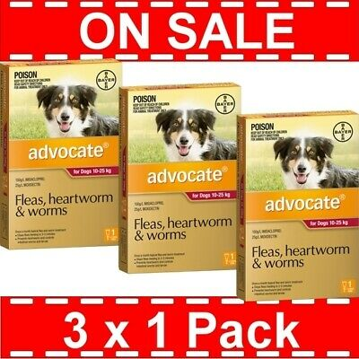 Advocate for Large Dogs Red 10-25kg 3 Pack (3 x 1 Pack)
