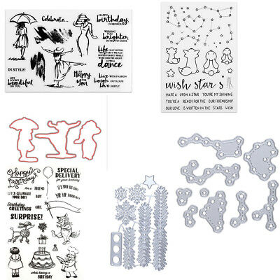 Werewolf Star Silicone Clear Rubber Stamp Dies for Diary Scrapbooking DIY