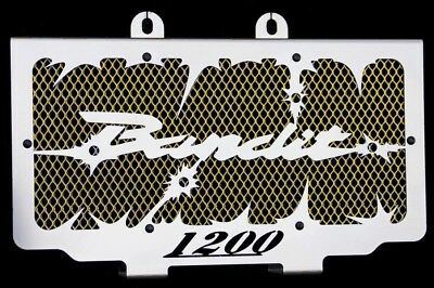 """cache / Grille de radiateur 1200 GSF Bandit 1996>2000 """"Hold up"""" + grilllage or"""