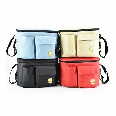 Large Capacity Pram Bag Mummy Handbag Pushchair Bag Baby Stroller Organizer PL