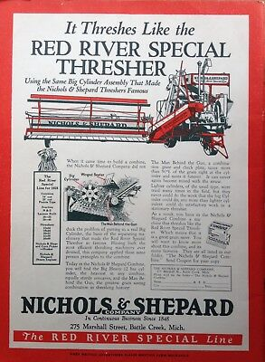 "1928 Ad(Xb4)~Nichols & Shepard ""red River"" Special Thresher Line, Battle Creek,"