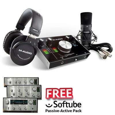 M-Audio M-Track 2X2 Vocal Studio Pro Recording Studio USB Interface Inc Warranty