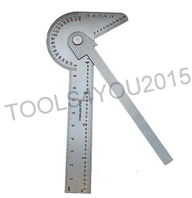 Multi-Use Gauge: Protractor / Center Finder / Drill Point Gauge / Circle Divider