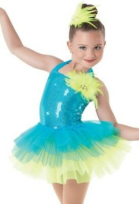 Dance Wear Ballet Lyrical Costume Jazz Tap Weissman Small Blue Green Pageant  sc 1 st  PicClick & WEISSMAN LYRICAL DANCE costume LC - $15.00 | PicClick