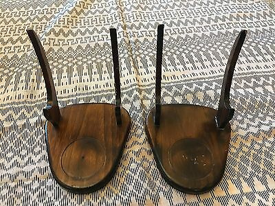 Lot of 2 Vintage Cup & Saucer Wood Display Stands