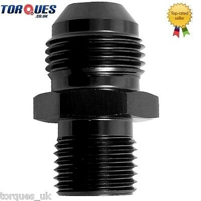 AN -6 (AN6) to M10x1.0 Metric Straight Adapter Black
