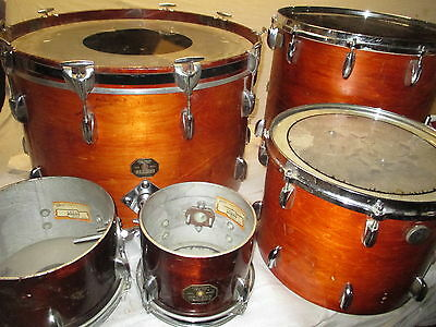 70's GRETSCH 6 PIECE DRUM KIT - made in USA