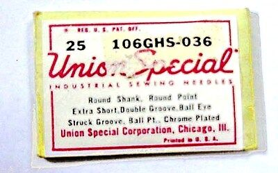 make offer Union Special ,106 GHS-036 Sewing Machine Needles (25 needles)