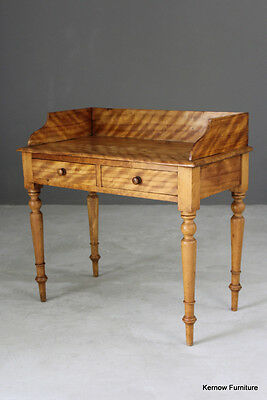 Antique Victorian Satin Birch Side Occasional Hall Writing Dressing Table