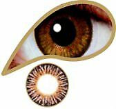 Colored Lenses - MesmerEyez - Golden Brown - 1 year lenses