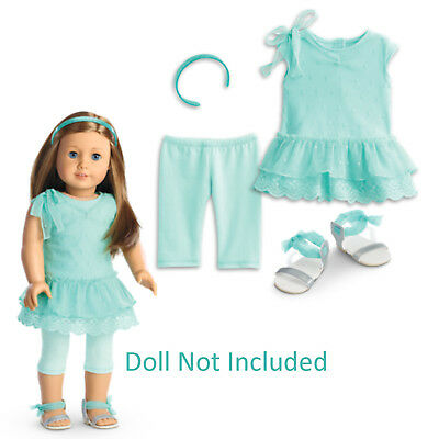 "American Girl TRULY ME SPRING BREEZE DRESS for 18"" Dolls Outfit Clothes NEW"