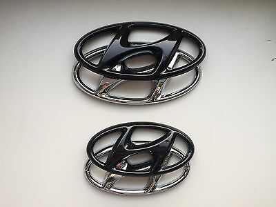 Hyundai Tucson TLE Cover Emblem hochglanz–schwarz blacked out Badge gloss black