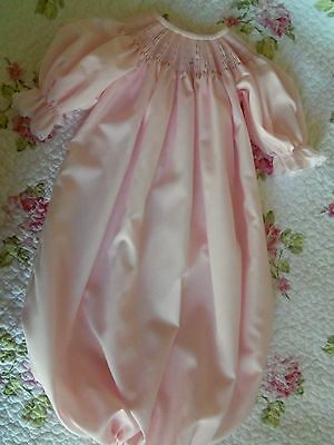 Ready To Smock Pink Daygown Saque 0-3 Months