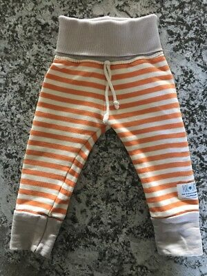 Purl Lamb Size 18-24 Month Sweatpants Orange And White Stripe Grey Band