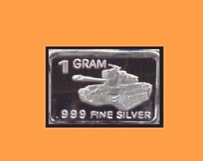 New 1 gm. Whason Mint .999 silver bar - The  Tank      ++ADD-ONs allowable !