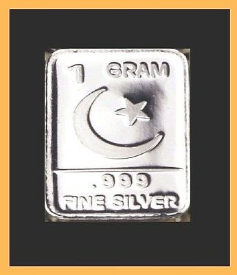 New 1 gm. Whason Mint .999 silver bar - The Moon-Star Bar   ++ADD-ONs available!