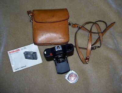 My 1969 Minox 35 El Camera With German Filter Lens, Case And Owner's Manual